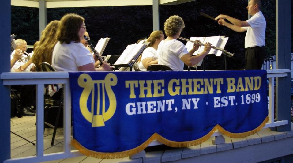 The Ghent Band in Concert in Kinderhook Village, Aug 14