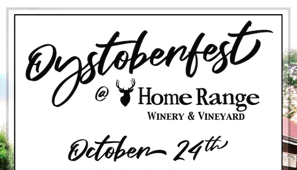 Oystoberfest at Home Range Winery in Canaan, Oct 24